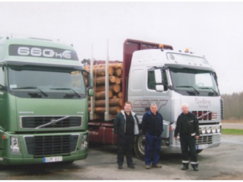 Bert and the timber men in Sweden